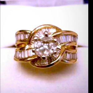 14kt diamond wedding ring size 6 can be resized